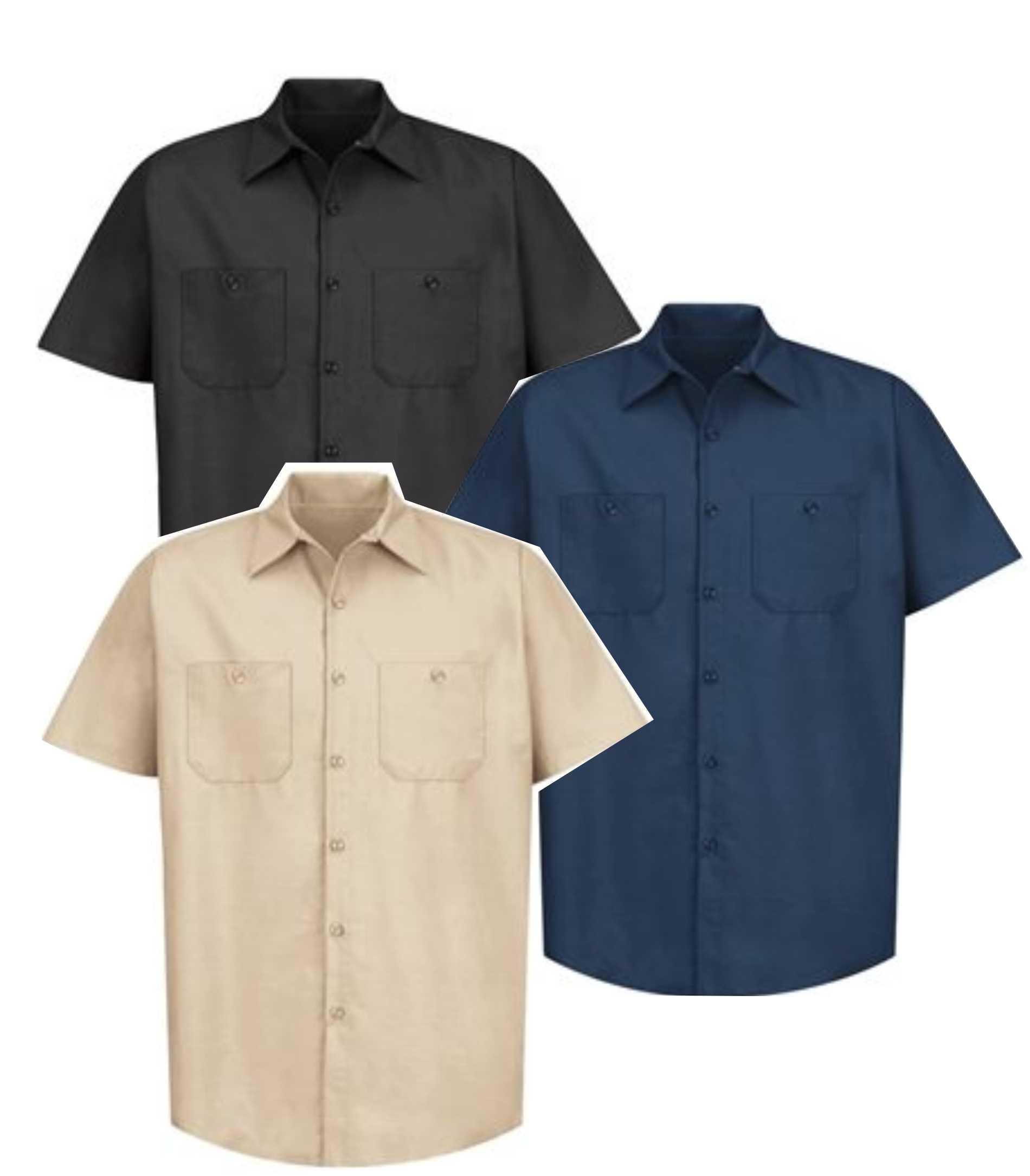 Red Kap Mens Enhanced Visibility Industrial Short Sleeve Work Shirt